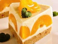 Йогуртовий персиковий торт